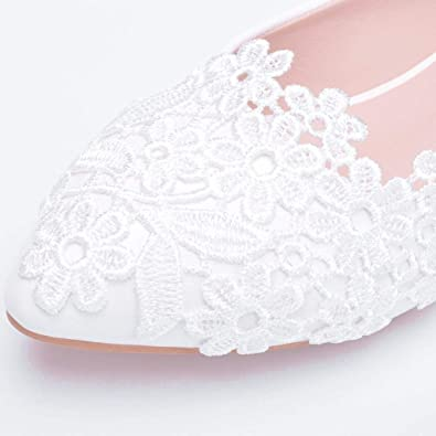 DOLDOA Sommerturnschuhe,Damenmode L/ässig Gro/ße Spitze Spitzschuh Hochzeit Flache Schuhe