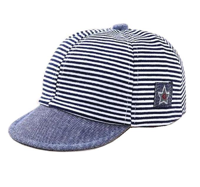 Striped Soft Eaves Baby Baseball Cap Summer Cotton Toddler Kids Hats Infant Boys  Girls Beret Sun 28a23ced4423