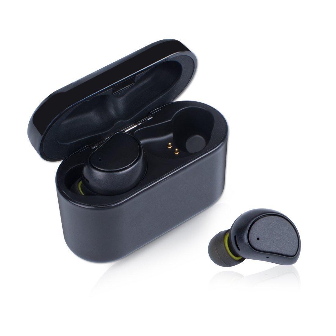 27829a846b8 Wireless Earpods: Best Mini Bluetooth Earbuds Stereo In Ear Earphones Twins  Truly Smallest Sport Headphones Headset Buds Mic Sweatproof Gym Charging  Case ...