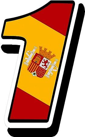 Biomar Labs® Número 1 Bandera Nacional España Spain Calavera ...