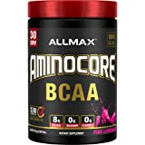 AMINOCORE BCAA – 8G BCAAs – 100% Pure Branch Chained Amino Acids – Gluten Free - Pink Lemonade - 315 Gram
