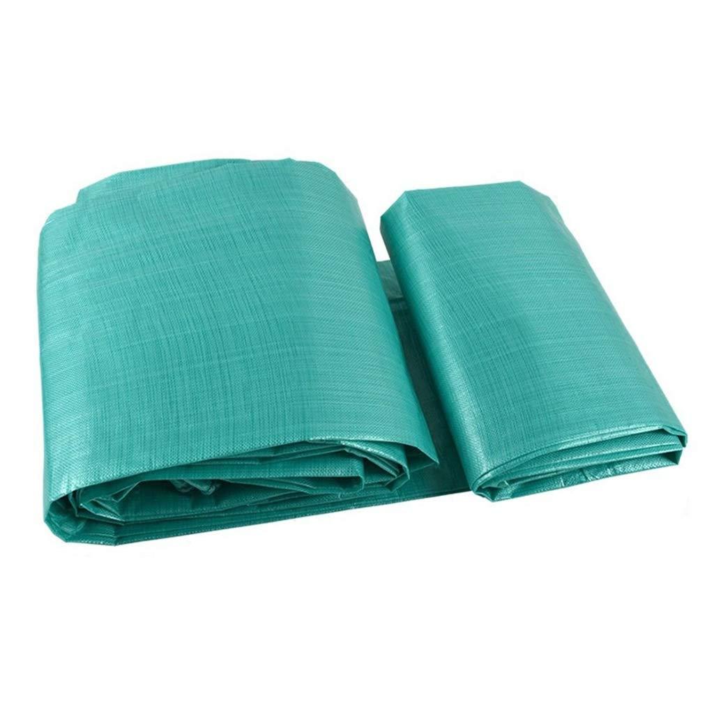 ターポリン アイレット付き防水ターポリン防水タープシート日焼け止め布絶縁材オーニングシェード - 160g /m²、グリーン (サイズ さいず : 8mx10m) B07SDNYT7T  8mx10m