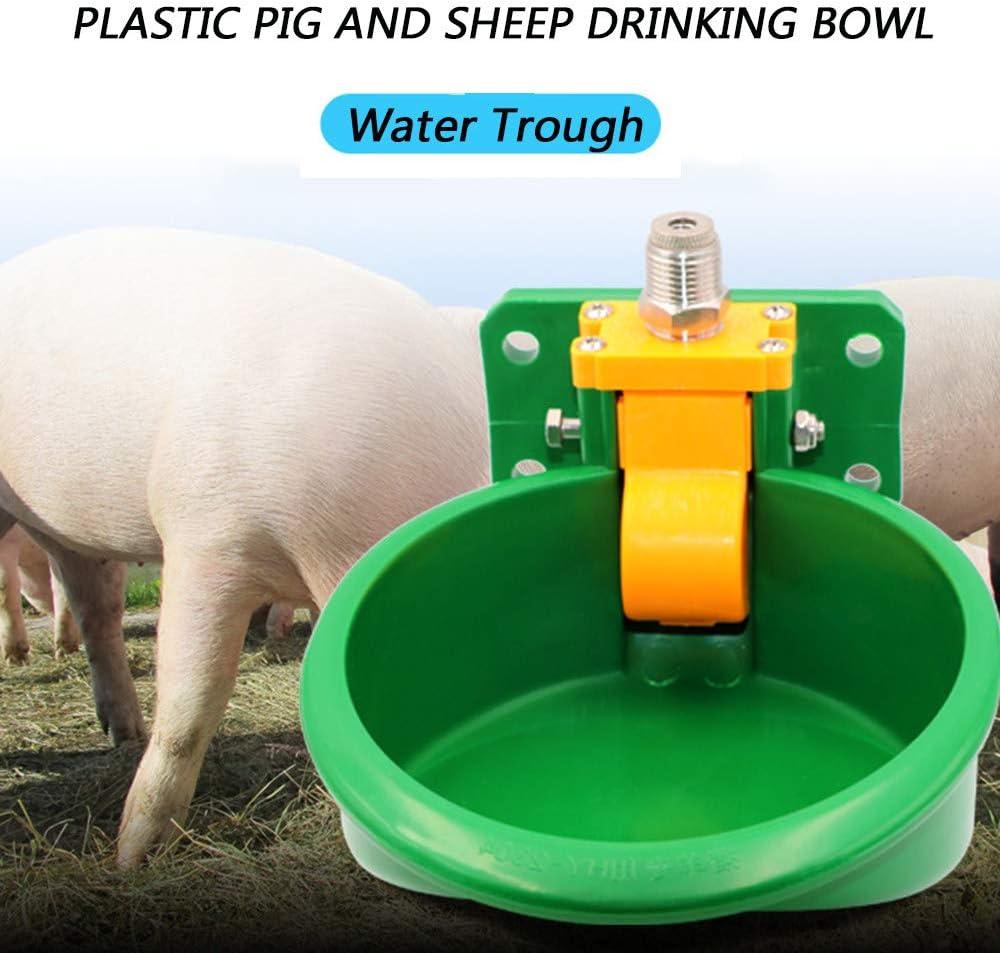 WHR-HARP Bebedero Automático de Granja, Tazón de Agua Automático Profesional para Ovejas, Cabras, Lechones, Caballos Pequeños Suministros de Ganado de Granja