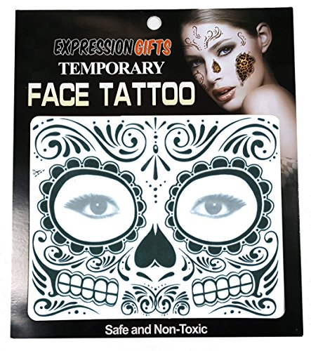 Expression Gifts Black Day of The Dead - 2 Pack Face -