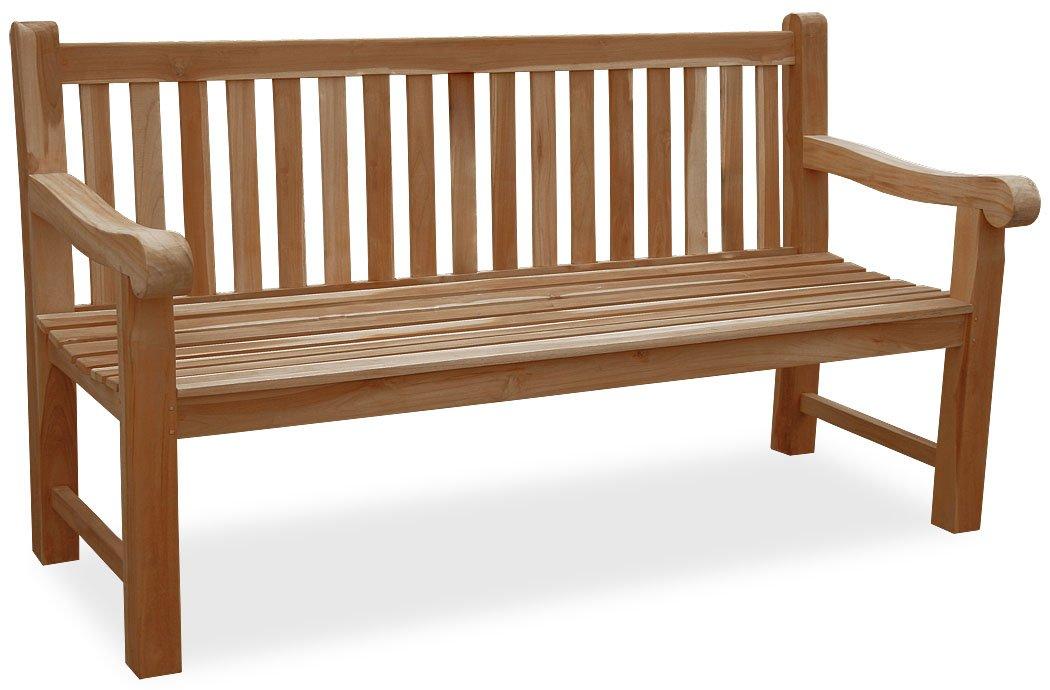- ECHT TEAK 3-sitzer Gartenbank Balmoral KMH® KMH mbH 150 cm #102062 KMH®