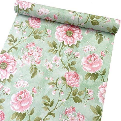 Autoadesivo decorativo del com/ò del cassetto della fodera della fodera della carta del contatto del fiore dannata autoadesivo 45cm x 5m