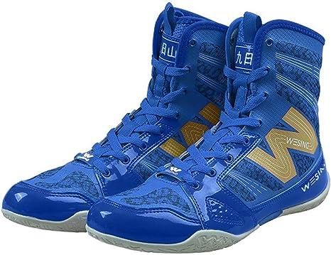 wesing - Zapatillas de Boxeo para Entrenamiento de Calzado con ...