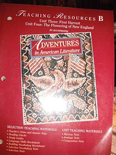 Adventures in American Literature Teaching Resources B