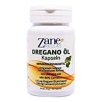Zane Hellas Oregano Öl Softgels. Konzentrat 4:1 versorgt 108 mg Carvacrol pro Portion. 60 Gélules - Kapseln mit Reinem Ätherischen Oregano Öl und Natives Olivenöl Extra. OreganoÖl, Öl von Oregano