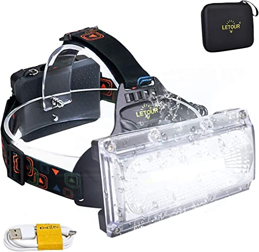 Stirnleuchte Kopfleuchte mit Warnleuchte Sports Head Light Flashlight F/ür Retten//Camping//Angeln//Klettern Kopflampe 3 LED 3 Modi Wasserdicht DOOK Stirnlampe LED Superheller