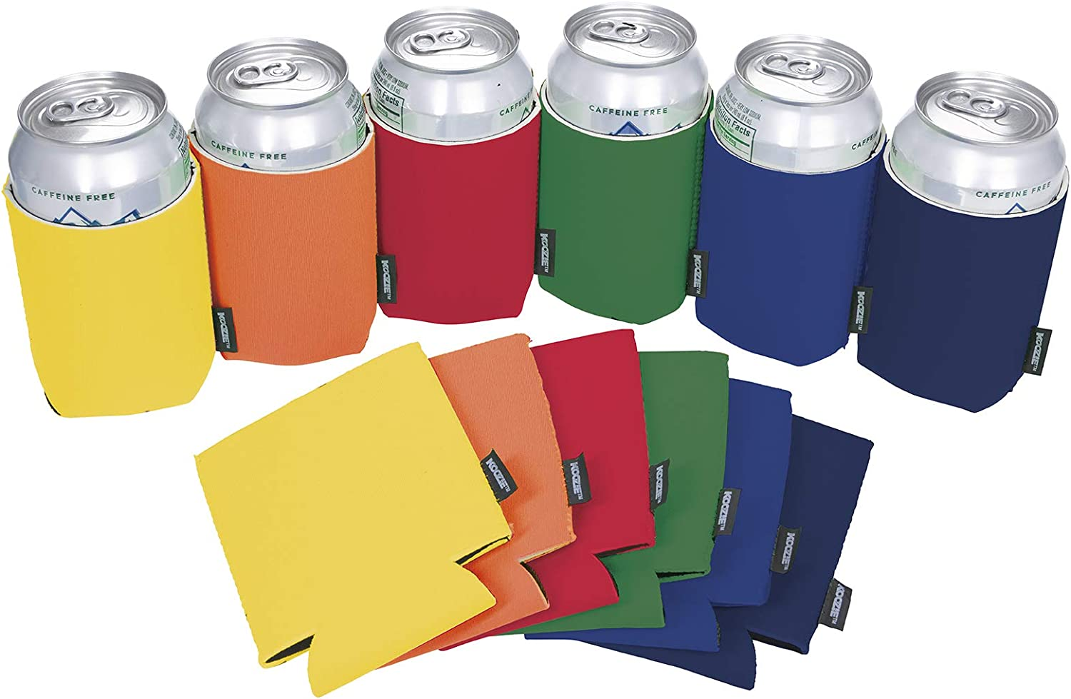 Koozie Can Cooler Blank Neoprene Beer Koozie for Cans, Bulk Insulated 12oz Beverage Holder Personalized Gifts for Events, Bachelorette Parties, Weddings, Birthdays - Pack of 12 Sleeves (Multi-Color)