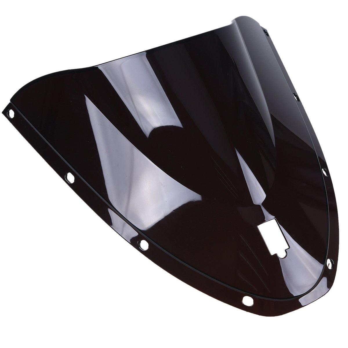 POSSBAY Motorcycle WindScreen Windshield Fly Screen Fit For Ducati 749/999 Black