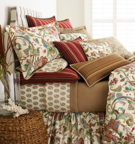 - Lauren by Ralph Lauren Bedding Antigua Paisley Floral Set of 2 Pillowcases; KING