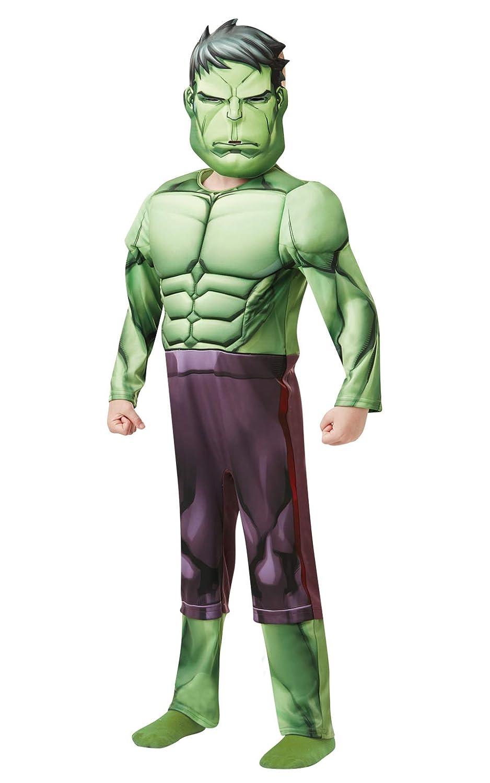 Rubies 640839L Marvel Avengers Hulk disfraz de lujo para niños, 7 – 8 años