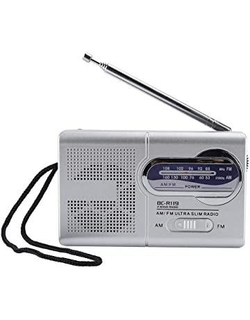 Bewinner Am/FM Multifunción Radio de Bolsillo con Antena Retráctil, HD Sound Banda Dual