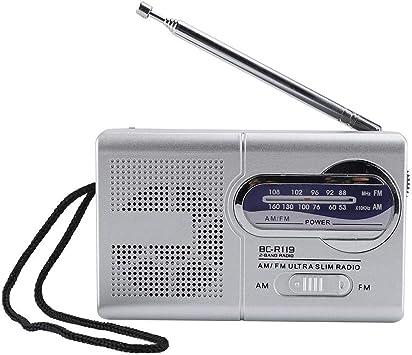 Bewinner Am/FM Multifunción Radio de Bolsillo con Antena ...