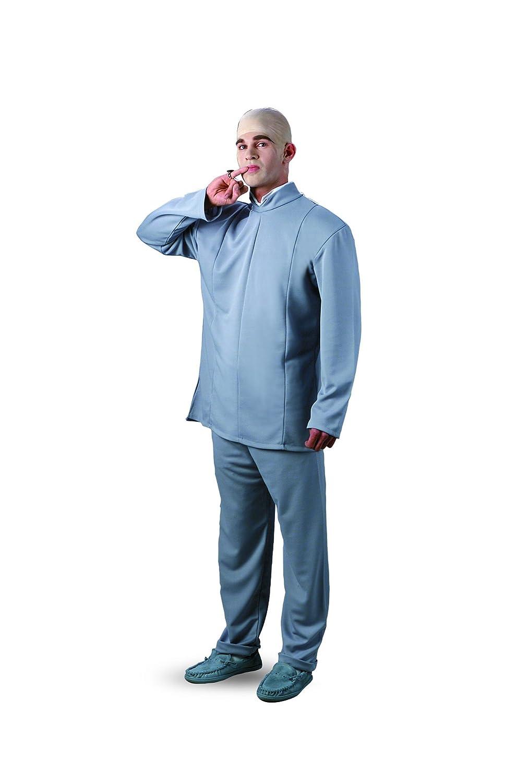 6baf728c5a48 Dr Evil Costume - Size 42-46 Chest (Jacket, Trousers & Bald Cap):  Amazon.co.uk: Toys & Games