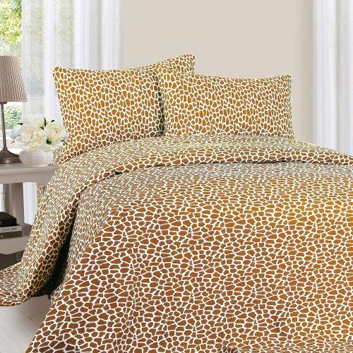 Lavish Home 1200 4-Piece Giraffe Sheet Set, ()