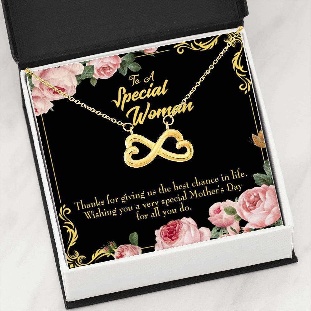 Mother Necklace Wishing You Mom Keepsake Card Jewelry Gift Infin Mom Necklace