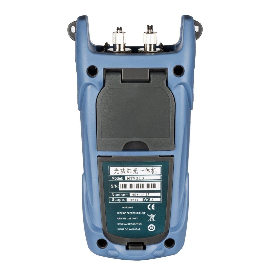 DealMux 5km DC 9V/1000mA -70 ~ +10 dBm Portable Optical Multi-Meter SC/FC/ ST Interfaces Fiber MTV310 for CATV Test CCTV Test and Telecommunication by DealMux