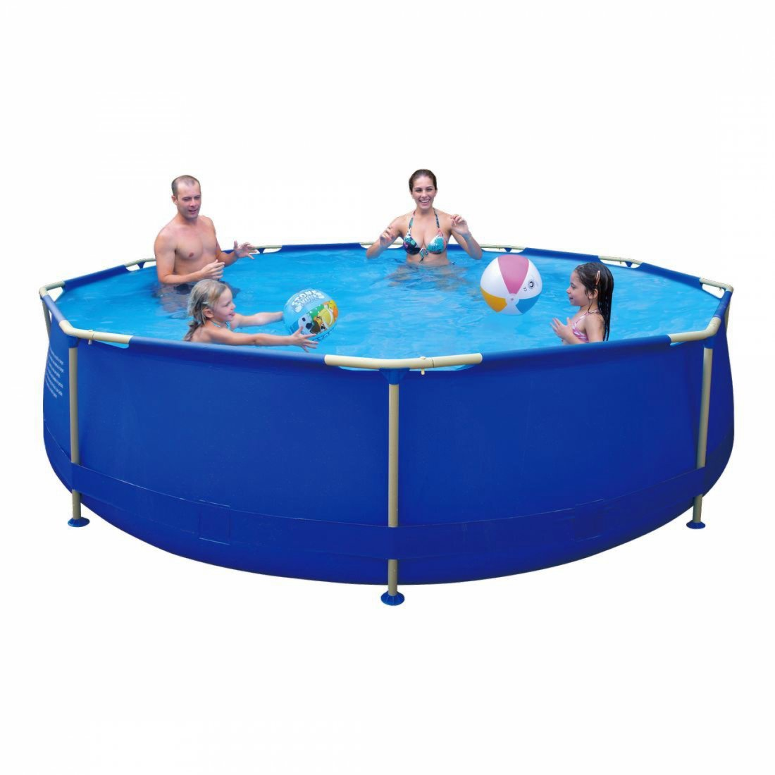 Jilong Sirocco Blue 360 – Steel Frame Round Pool, Blue, 360 x 360 x 30 6125, L, 17236