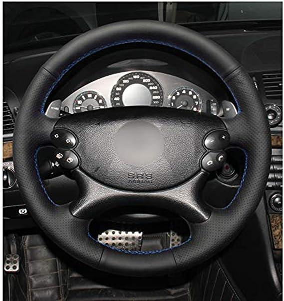 DYBANP Couvre Volant en Cuir pour Mercedes Benz Classe E W211 E230 E280 E350 Classe CLS CLS350 CLS500-black Line