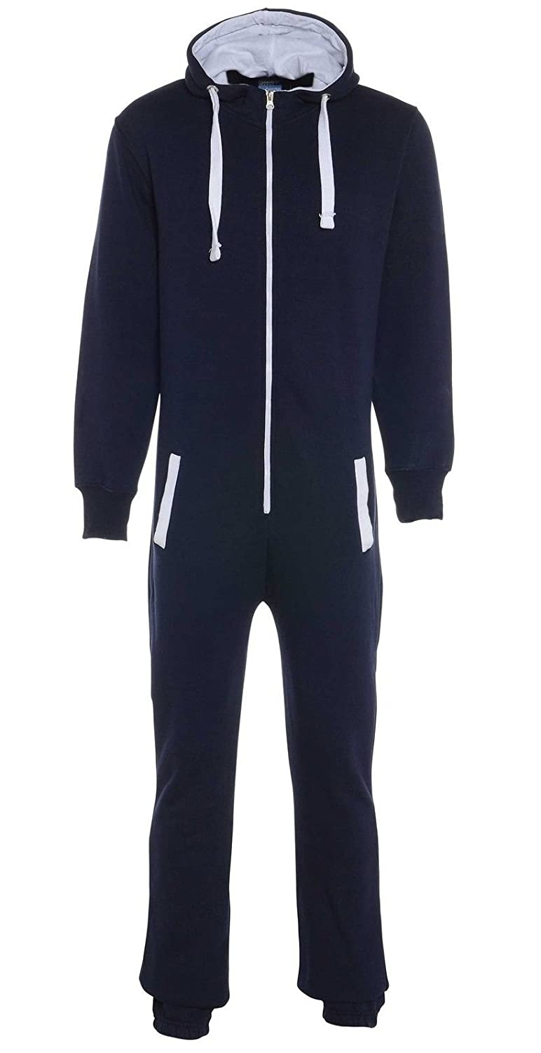 Fashion Oasis Men's Aztec Print Onesie Zip Up All In One Hooded Jumpsuit