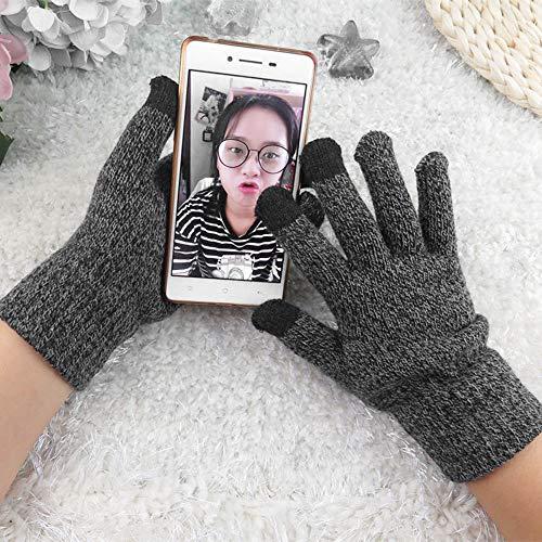 Zolimx DamenTouchscreen Kaschmirwolle warme Handyhandschuhe Gestrickte Multifunktions-Strickschirm-Winterhandschuhe Soft Warm Mitten f/ür iPhone