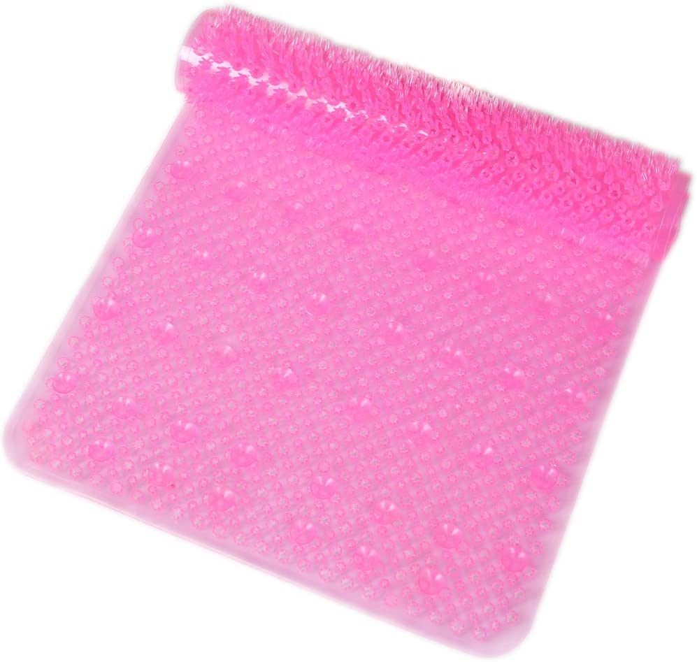 14 x 26, Cushioned /& Comfortable, Machine Washable SlipX Solutions Clear Grassy Bath Mat Feels Great on Tired Feet /& Helps Prevent Slips