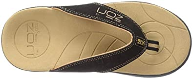 fa1d39d237f Neat Feat Men s Zori Sport Orthotic Slip-on Sandals Flip Flop Black Tan 7