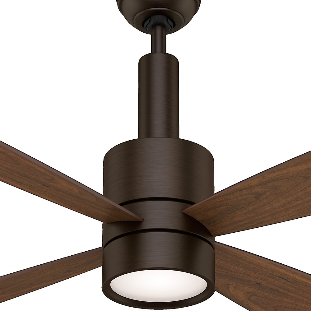 Casablanca fan 59069 bullet 54 inch brushed cocoa ceiling fan with casablanca fan 59069 bullet 54 inch brushed cocoa ceiling fan with four walnutburnt walnut blades and a light kit amazon aloadofball Image collections
