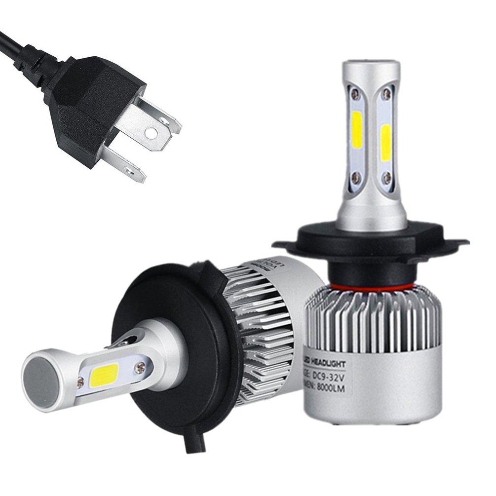 9005/HB3/H10 LED phare ampoules Kits 4-cô té s COB Chips 72W 9600LM par paire 6000K blanc ampoules voiture STKTON