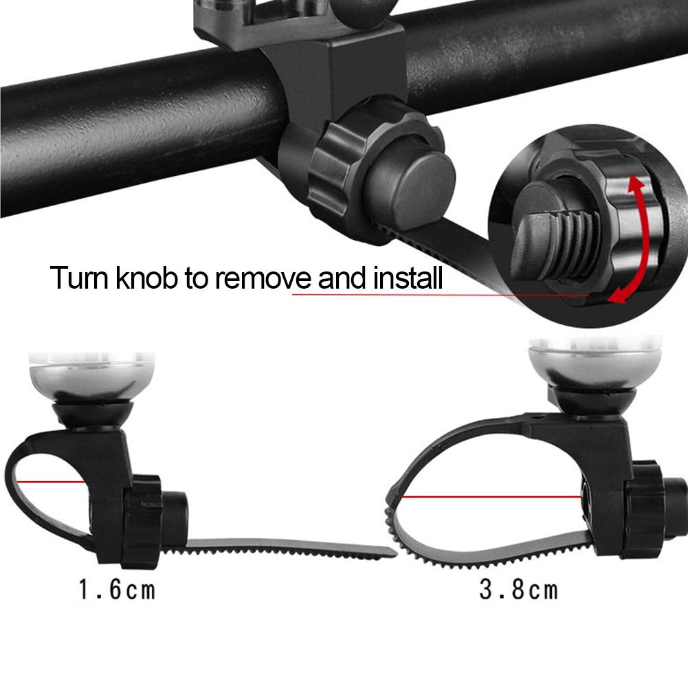 LYXMY Bicycle Bell Safety Cycling Adjustable Strap Metal Universal Protective Alarm Bike Accessories Handle Mounting Mini Loud Outdoor Horn Ring Sound