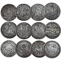 NLR 12 constelación de monedas conmemorativas Aries/Tauro/Géminis/Cáncer/Leo/Virgo/Libra/escorpión/Sagitario/Capricornio/Acuario/Piscis recuerdo
