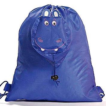 Lote de 20 Mochilas Plegable Animales Hipopótamo. Color Azul. Mochilas Escolares, Guarderías, Colegios, Ofertas: Amazon.es: Equipaje