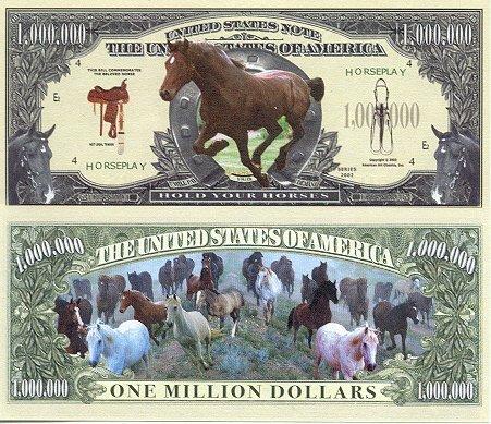 Set of 10 Bills-Horse Million Dollar Bill by Novelties Wholesale