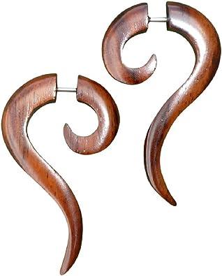 Amazon.com: UMBRELLALABORATORY - Pendientes de madera ...