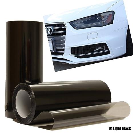 Calistouk Vinilo adhesivo para faros delanteros de coche, 30 x 60 cm