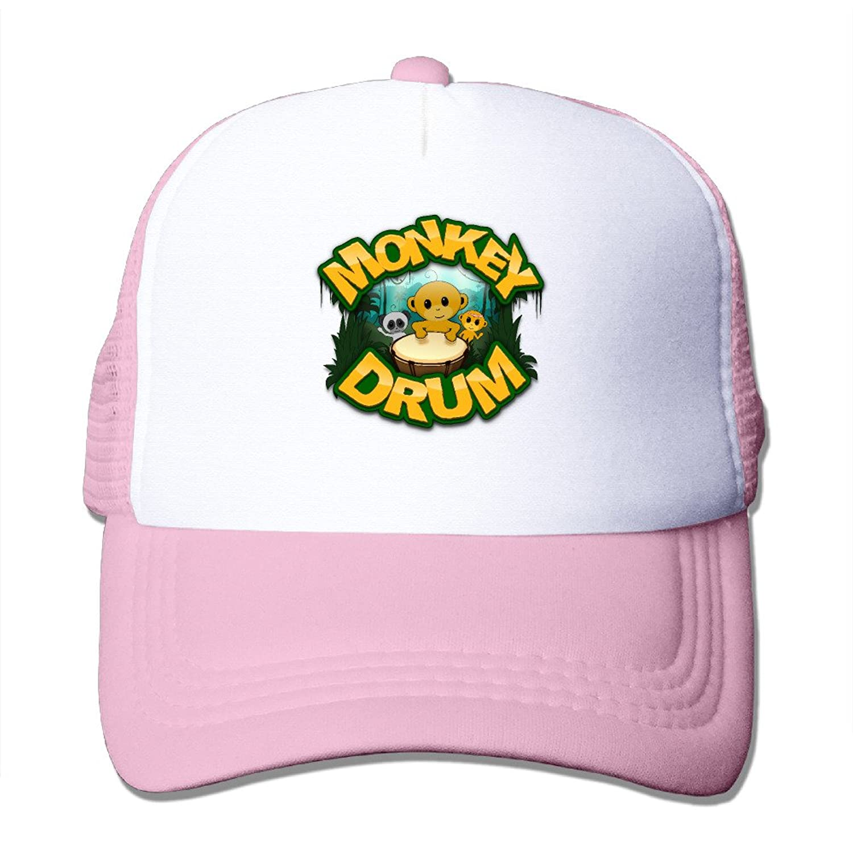 Latest Adult Unisex Funny Monkey 100% Nylon Mesh Caps Adjustable Trucker Hat