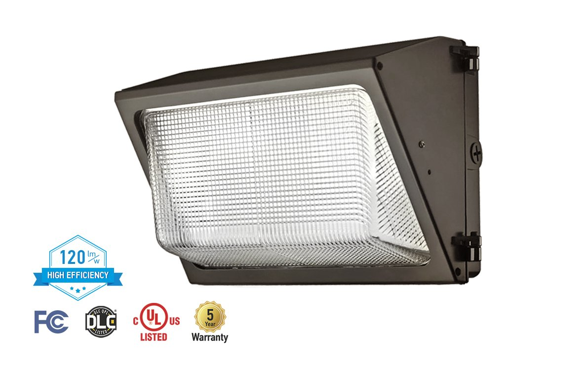 ASD LED Wallpack 80W 5000K (Daylight White) 9953lm Bronze UL Listed DLC Certified by ASD