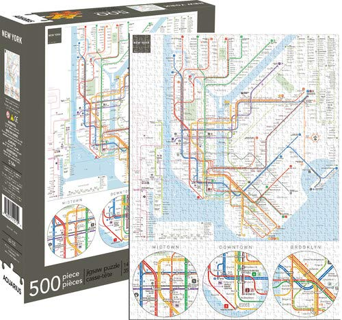 Aquarius New York Subway 500 Piece Jigsaw - Metro New York