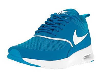 info for e69cf 20bba Nike Women s Air Max Thea Blue Spark Summit White Running Shoe 10 Women US   Amazon.in  Shoes   Handbags