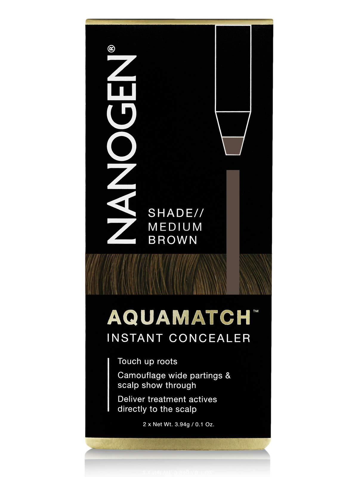 Nanogen Aquamatch Waterproof Scalp Concealer, Medium Brown