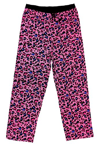 Godsen Women's Plus-Size Long Sleep Pant (L, Pink Leopard) (Leopard Pants Lounge)