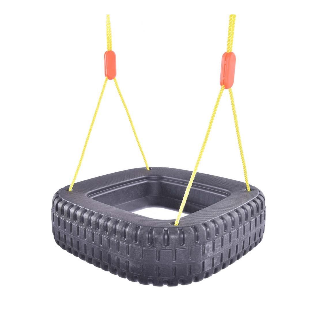 クラシックタイヤスイング2キッズ子供アウトドア再生丈夫裏庭スイングセット – 重量容量: 110 lbs B0744KKGN4