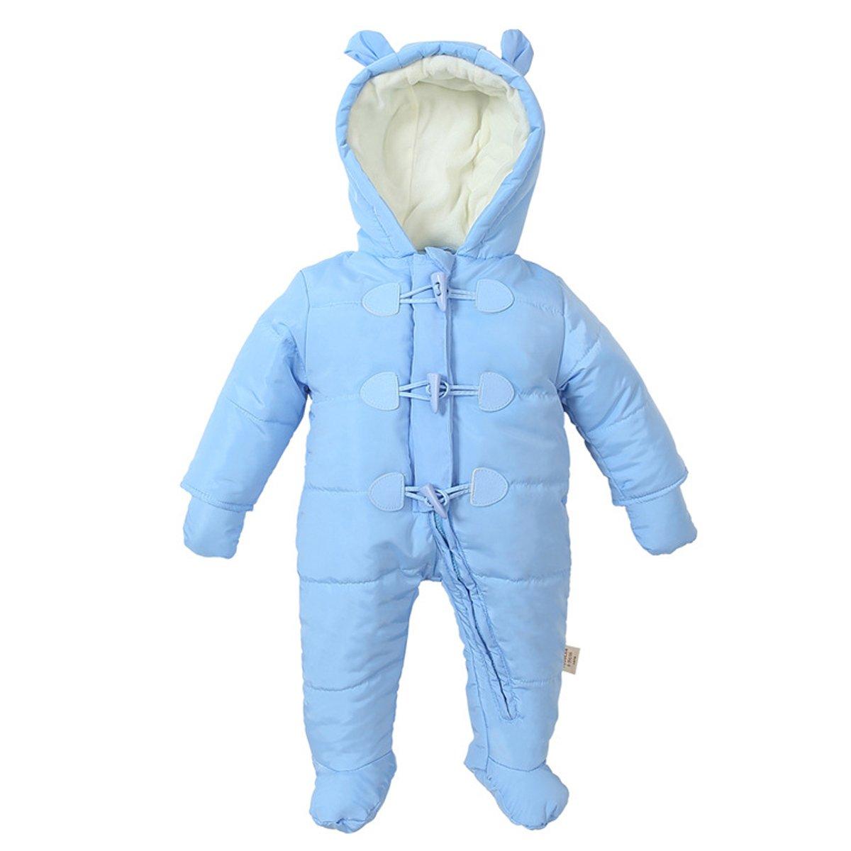 G-Kids Baby Schneeanzug Overall Daunenanzug/Jungen M/ädchen Winter Strampler Babykleidung mit Kapuze