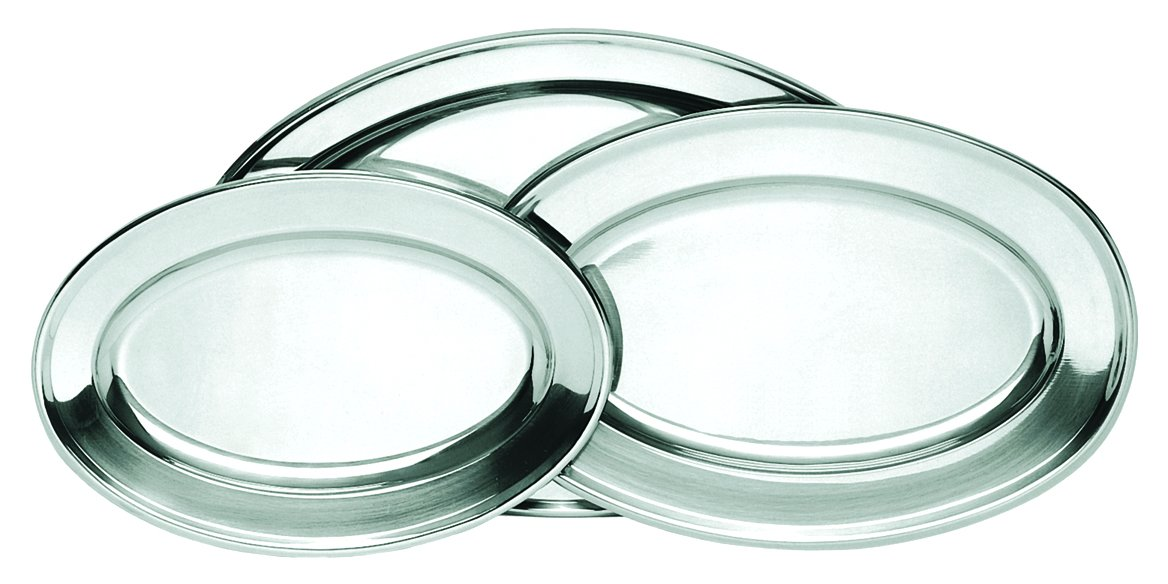 Oval Material Stainless Steel Platters - 21-3/4