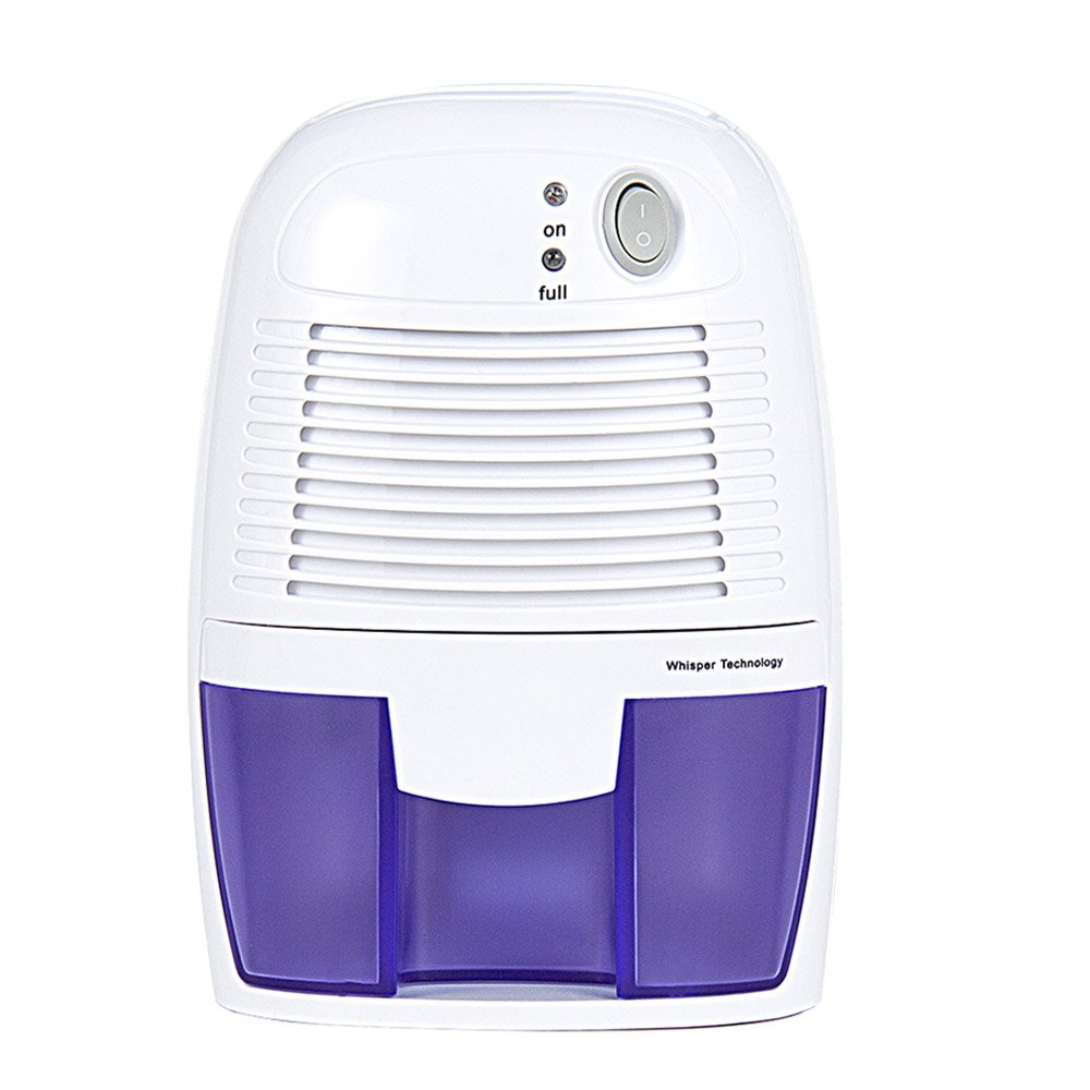 Home Mini Dehumidifier Moisture Absorber/Air Dehumidifier with 500ML Water Tank Air Dryer for Basements, Bedroom, Bathroom, Wardrobe, Kitchen, Office