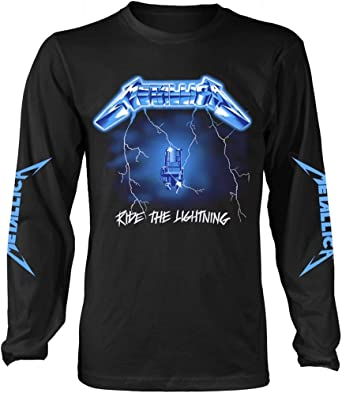 Metallica Ride The Lightning (Negro) Camisa De Manga Larga: Amazon.es: Ropa y accesorios
