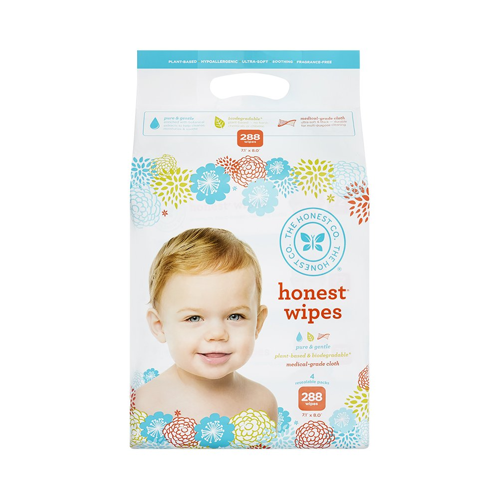 Honest Baby Wipes, Fragrance Free, White, 288 Count The Honest Company Inc 817810014680